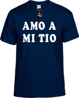 Amo A Mi Tio (Spanish For I Love My Uncle) Funny T-Shirts Youth Novelty Tee Shirt