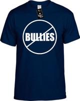 Anti Bullies (No Bullies) Funny T-Shirts Youth Novelty Tees