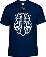 Cross Religious T-Shirts Youth Novelty Tees