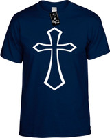 Cross Religious T-Shirts Youth Novelty Tee