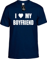 I Love (Heart) My Boyfriend Funny T-Shirts Youth Novelty Tees