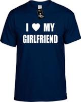 I Love (Heart) My Girlfriend Funny T-Shirts Youth Novelty Tees