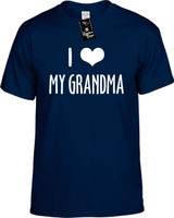 I Love (Heart) My Grandma Funny T-Shirts Youth Novelty Tees