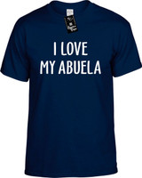 I Love My Abuela (Grandma) Funny T-Shirts Youth Novelty Tee