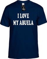 I Love My Abuela (Grandma) Funny T-Shirts Youth Novelty Tee Shirt