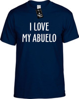 I Love My Abuelo (Grandpa) Funny T-Shirts Youth Novelty Tee