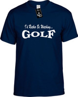 Id Rather Be Watching Golf Funny T-Shirts Youth Novelty Tees