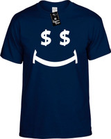Money Smile Funny T-Shirts Youth Novelty Tees