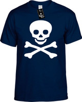 Skull And Cross Bones Funny T-Shirts Youth Novelty Tees