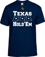 Texas Hold'Em Funny T-Shirts Youth Novelty Tees