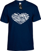 Zebra Heart Sign Funny T-Shirts Youth Novelty Tees