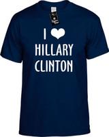 I Love (heart) Hillary Clinton (Elect) Youth Novelty T-Shirt