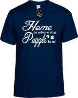 Home is where my Puggle is at Youth Novelty T-Shirt