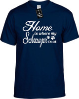 Home is where my Schnauzer is at Youth Novelty T-Shirt