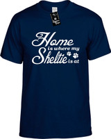 Home is where my Sheltie is at Youth Novelty T-Shirt