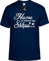 Home is where my Shihpoo is at Youth Novelty T-Shirt