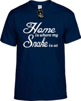 Home is where my Snake is at Youth Novelty T-Shirt