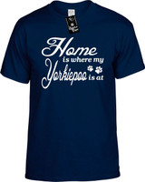Home is where my Yorkiepoo is at Youth Novelty T-Shirt