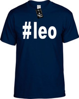 :#leo (Hashtag Tee Shirt) Horoscope Youth Novelty T-Shirt