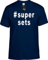 :#supersets (Hashtag Tee Shirt) Youth Novelty T-Shirt