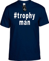 :#trophyman (x2 (Hashtag Tee Shirt) Youth Novelty T-Shirt