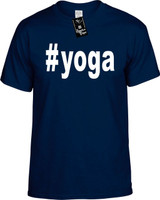 :#yoga (Hashtag Tee Shirt) Youth Novelty T-Shirt