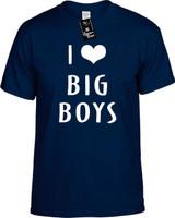 I LOVE (HEART) BIG BOYS Youth Novelty T-Shirt