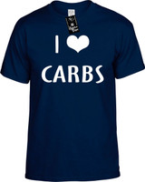 I LOVE (HEART) CARBS Youth Novelty T-Shirt