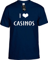 I LOVE (HEART) CASINOS Youth Novelty T-Shirt