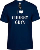 I LOVE (HEART) CHUBBY GUYS Youth Novelty T-Shirt