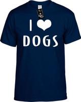 I LOVE (HEART) DOGS Youth Novelty T-Shirt