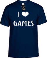 I LOVE (HEART) GAMES Youth Novelty T-Shirt