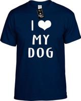 I LOVE (HEART) MY DOG Youth Novelty T-Shirt
