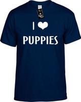 I LOVE (HEART) PUPPIES Youth Novelty T-Shirt