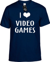 I LOVE (HEART) VIDEO GAMES Youth Novelty T-Shirt