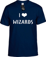 I LOVE (HEART) WIZARDS Youth Novelty T-Shirt