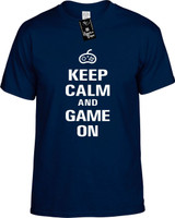 Keep Calm and Game On Youth Novelty T-Shirt