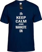 Keep Calm and Namaste On Youth Novelty T-Shirt