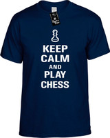 Keep Calm and Play Chess Youth Novelty T-Shirt