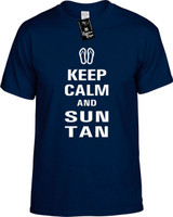 Keep Calm and Sun Tan Youth Novelty T-Shirt
