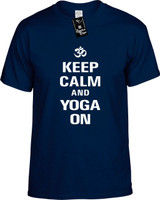 Keep Calm and Yoga On Youth Novelty T-Shirt
