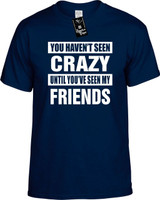 HAVENT SEEN CRAZY /SEEN MY FRIENDS Youth Novelty T-Shirt
