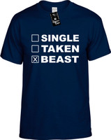 SINGLE TAKEN BEAST Youth Novelty T-Shirt
