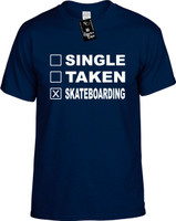 SINGLE TAKEN SKATEBOARDING Youth Novelty T-Shirt