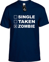 SINGLE TAKEN ZOMBIE Youth Novelty T-Shirt