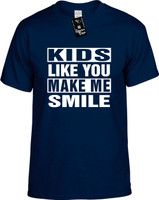 KIDS LIKE YOU MAKE ME SMILE Youth Novelty T-Shirt