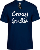 Crazy Grandkid Youth Novelty T-Shirt
