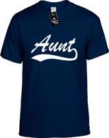 Aunt (baseball font) Youth Novelty T-Shirt