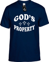 Gods Property (with three crosses) Youth Novelty T-Shirt