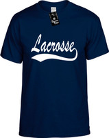 Lacrosse (baseball font) Youth Novelty T-Shirt